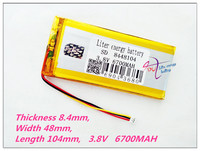 3 Thread 8448104 3 8V 6700MAH Polymer Lithium Ion Battery Rechargeable Batteries Li Ion Battery For