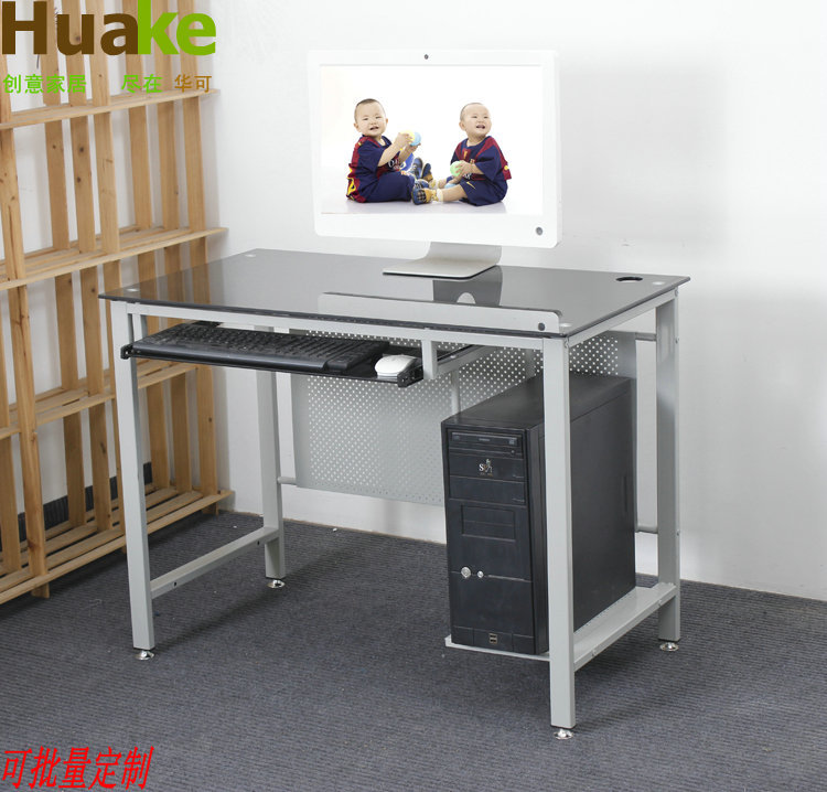 China Can [customizable] Computer Desk Desk Glass Computer Tables Internet  Cafe Tables Training Tables Simple Tables In Computer Desks From Furniture  On ...