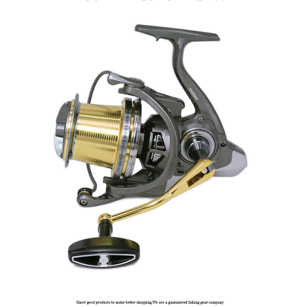 WOEN Lightweight design Anti seawater SH10000 Distant Wheel Sea fishing Spinning wheel Large metal wire cup Brake force 20KG in Fishing Reels from Sports Entertainment