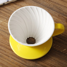 colorful Coffee Maker V60-01 screw thread inside Ceramic Coffee Dripper Coffee Brewer drip cup for 1-2 people(China)