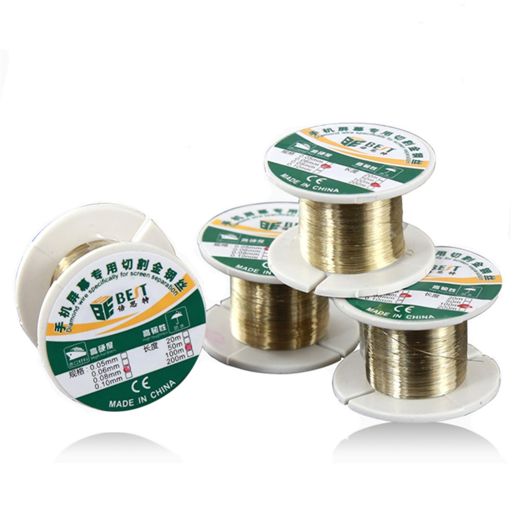 100M Phone LCD Screen Separation Wire Cutting Line Gold Molybdenum Wire For IPhone For Samsung HTC Xiaomi Glass Cutting Line