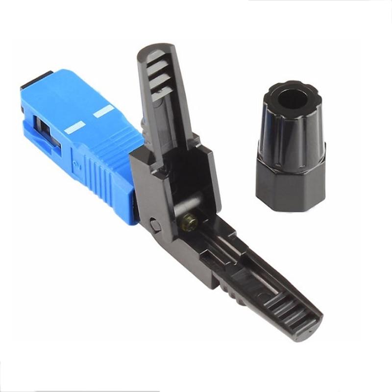 50PCS FTTH SC/UPC Fiber Optic cold Fast Connector single-mode SC/UPC quick connector SC UPC Connector