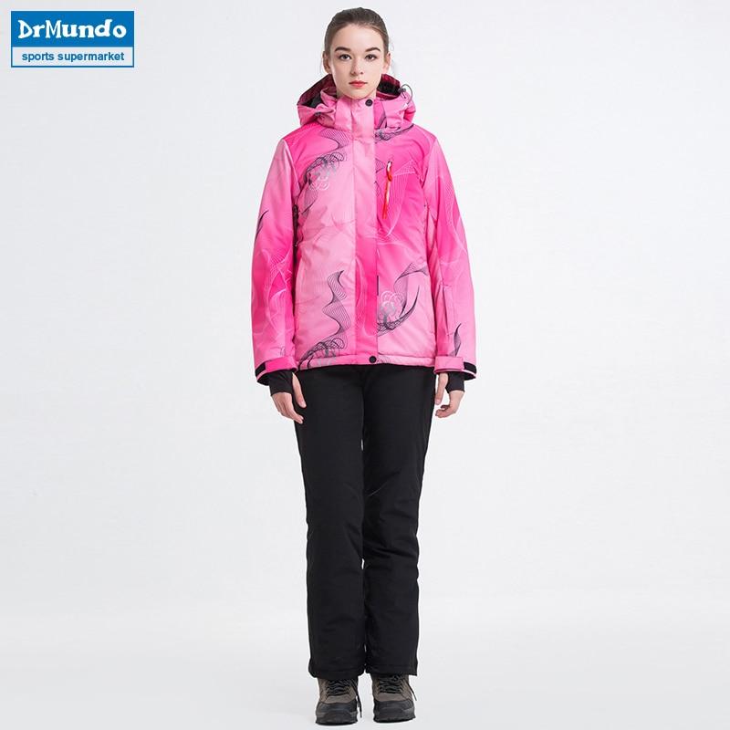 2018 New Winter Ski Suit Women's Waterproof Skiing Ski-wear Windproof Snowboarding Coat Outdoor Ski jacket + Pants Sets Brand