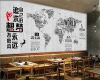 Beibehang модные классические обои промышленности ветер ручная роспись карта мира вина стандартная кафетерий фон 3d обои