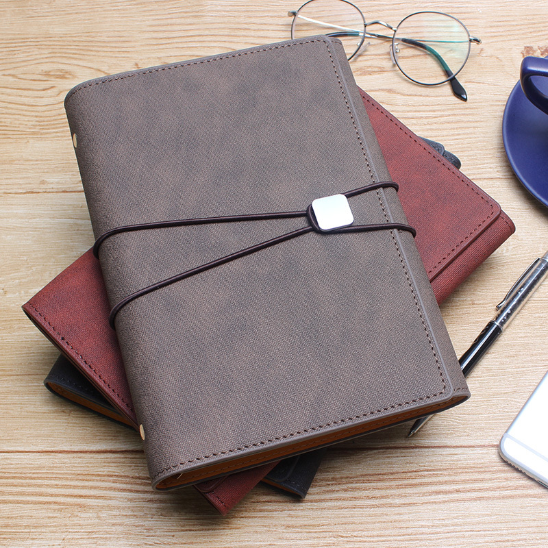 Carnet de notes d'affaires en cuir de haute qualité A5 Agenda hebdomadaire carnet de croquis adresse Bok pour bureau Agenda scolaire 2019 carnet de notes