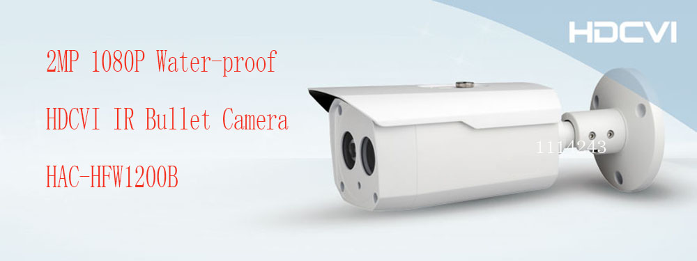 Free Shipping DAHUA Security Outdoor Camera CCTV 2MP FULL HD 1080P Water-proof HDCVI IR Bullet Camera without Logo HAC-HFW1200B dahua 2mp hdcvi camera cctv 1080p water proof ip67 hac hfw1200s bullet camera lens 3 6mm ir leds length 30m mini security camera