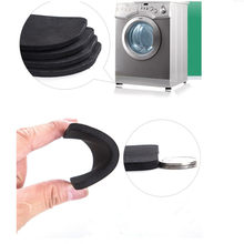 4pcs Washing Machine Anti Vibration Pad Shock Proof Non Slip Foot Feet Tailorable Mat Refrigerator Floor Furniture Protectors(China)