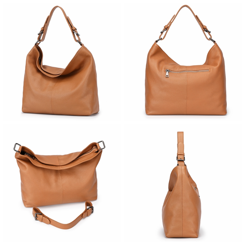 Luxury Genuine Leather Bags For Women Full Grain Leather Shoulder Bags Soft Real Original Natural Leather Skin Handbag OL