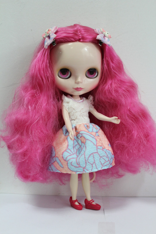 Free Shipping big discount RBL-141DIY Nude Blyth doll birthday gift for girl 4colour big eyes dolls with beautiful Hair cute toy free shipping bjd joint rbl 415j diy nude blyth doll birthday gift for girl 4 colour big eyes dolls with beautiful hair cute toy