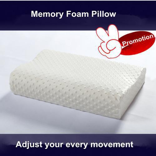 Memory Foam Pillow Cervical Neck Protector Bed Pillow Removable Zipper Cover