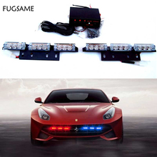 FREE SHIPPING 2*9 18LED Car Flash Strobe Light Waterproof WHITE AMBER 3 FLASHING MODE цена