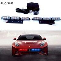 FUGSAME 2*9 18 LED Warning Blinking Strobe Flash Light 3 Mode 12V. Red, Amber. White. Blue. Green LED flas
