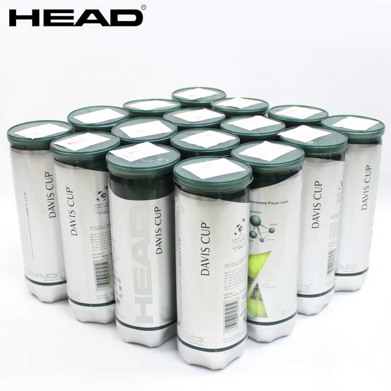Wholesale 10/20 tubes Original Head Atp 3pcs/tube  Davis Cup Tennis Balls Official Tennis Ball Of  Davis Cup Raquete De Tennis