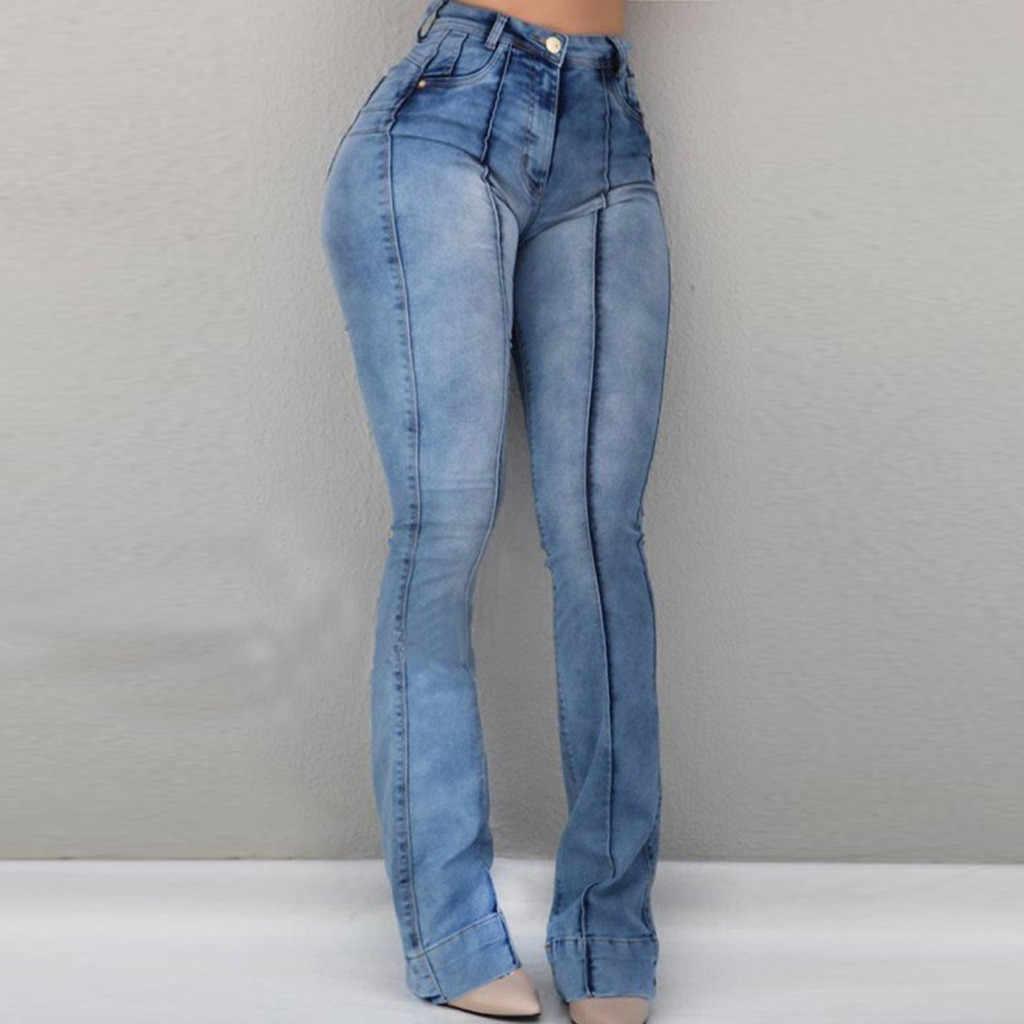Хит, Женские джинсовые штаны, женские летние повседневные штаны, женские штаны с карманами, широкие джинсы, расклешенные узкие брюки, Y605