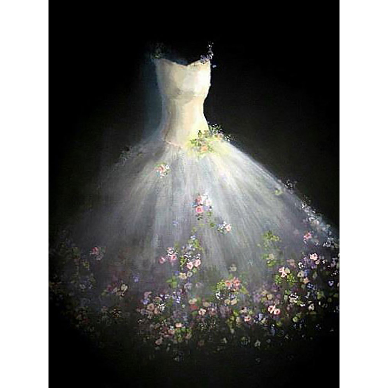 Diy Wedding Dress.Us 16 33 50 Off Diamond Embroidery Full Diy