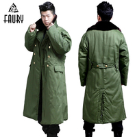 Men Military Style Long Coat Winter Jacket Tactical Security Cold Clothes Thick Cotton Parkas Warm Coat Army Green High Quality