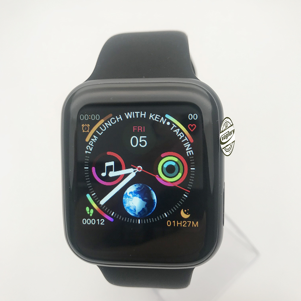 Bluetooth Smart Watch <font><b>IWO</b></font> 12 <font><b>1</b></font>:<font><b>1</b></font> 44mm SmartWatch Aluminum Alloy Matte Case for iOS Android Heart Rate ECG Pedometer image