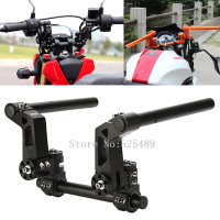 Black CNC Aluminum 7 8 Adjustable Steering Handle Bar 22mm Removable Handlebar System Universal For 125cc