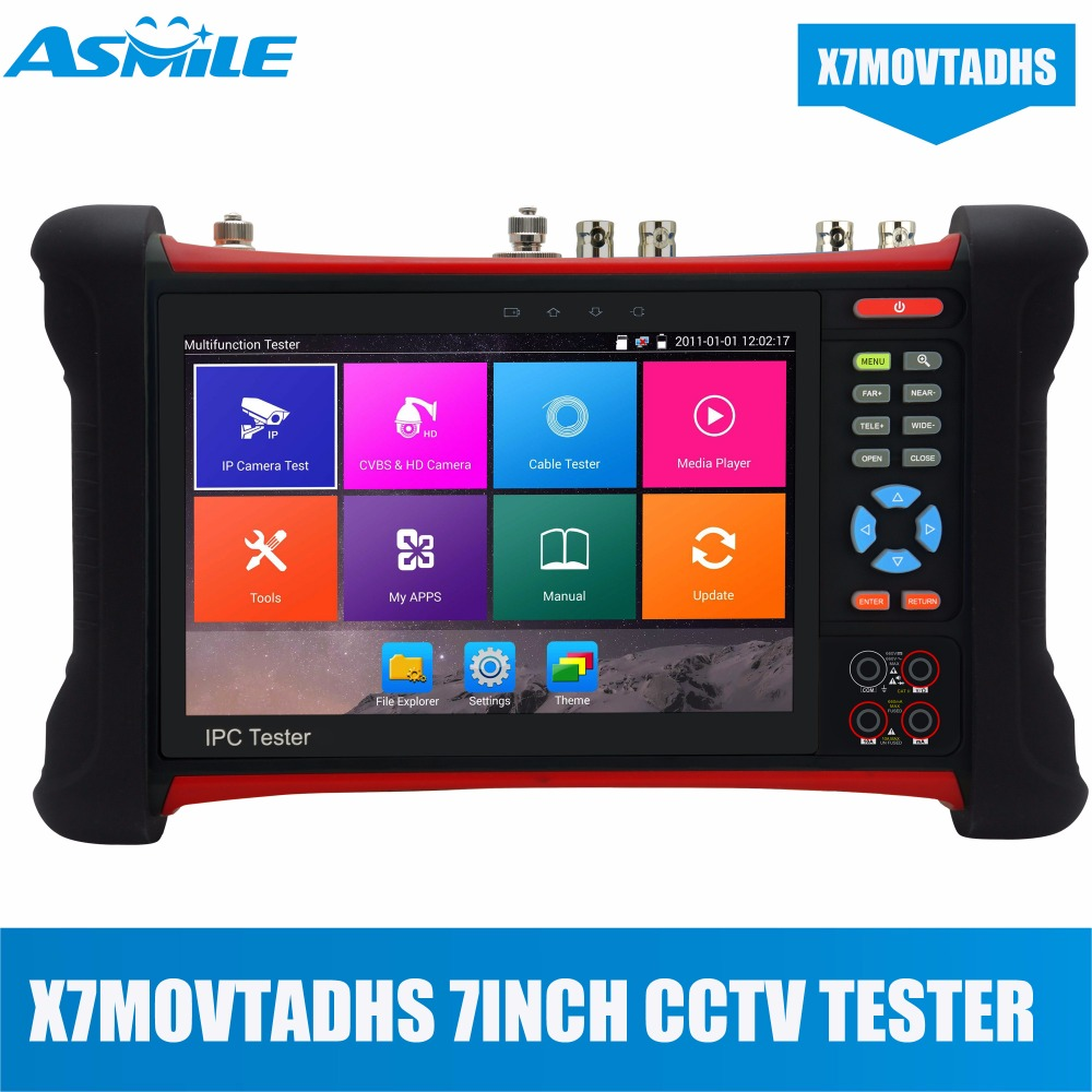 HOT 1920*1200 7 Touch Screen CCTV Tester Monitor H.265 4K IP Camera Tester HDMI Input 6 in 1 CCTV Tester Pro IPC-X7-MOVTADHS