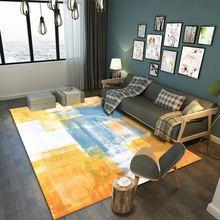 3D Inkjet printed carpet modern  geometric coffee table bedroom living room footpad non-slip model Decoration