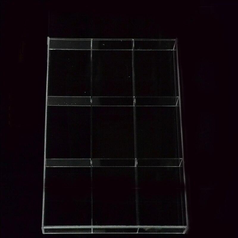 9 grid New Acrylic Tray Women Jewelry Display Cosmetic Makeup Storage Tray Clear Organizer Tray