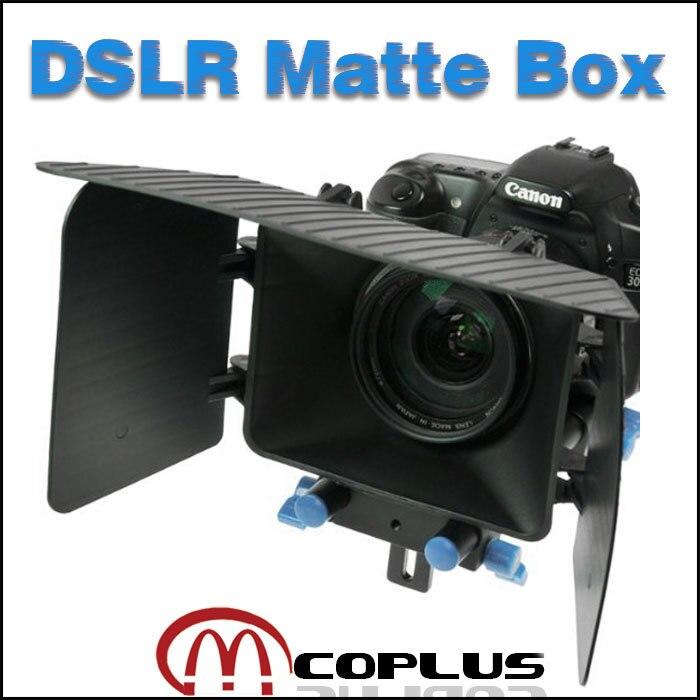 Mcoplus DSLR Rig Matte Box pour 15mm Rail Tige Nikon Canon D90 5D 60D 600D D7100 D600 5DII 60D D5100 D7000 60D 650D Caméra