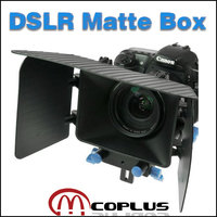 DSLR Rig Matte Box For 15mm Rail Rod Support With Follow Focus System D90 5D 60D