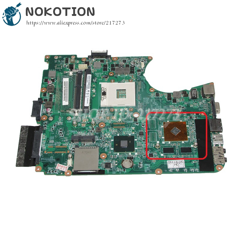 NOKOTION Laptop Motherboard For toshiba satellite L655 Main Board A000076410 DABL6DMB8F0 HM55 DDR3 nokotion genuine h000064160 main board for toshiba satellite nb15 nb15t laptop motherboard n2810 cpu ddr3