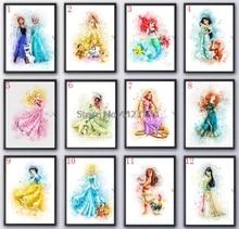 5D DIY Diamond Embroidery Cartoon princess Diamond Painting Cross Stitch Square Rhinestones Mosaic Decoration недорого