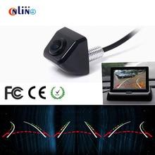 HD Câmera de Visão Traseira Do Carro invertendo trajetória dinâmico corpo de Metal Parque Monitor Do Carro de 170 Graus Mini Backup Reversa Câmera Dinâmica