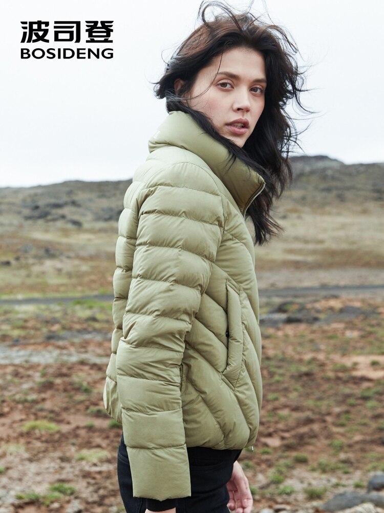BOSIDENG 2018 new winter   down   jacket for women   down     coat   pillow collar short jacket warm soft high quality B80131024