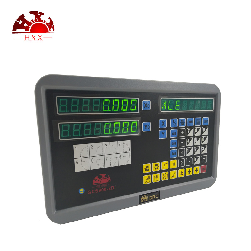 Professional HXX measuring tools gcs900-2d 2 axis dro set and two pcs 5u linear scale 50-1000mm for milling/lathe hxx high precision multifunction new dro set gcs900 2da and 2 pc linear glass scales 5u gcs898 50 1000mm for machines