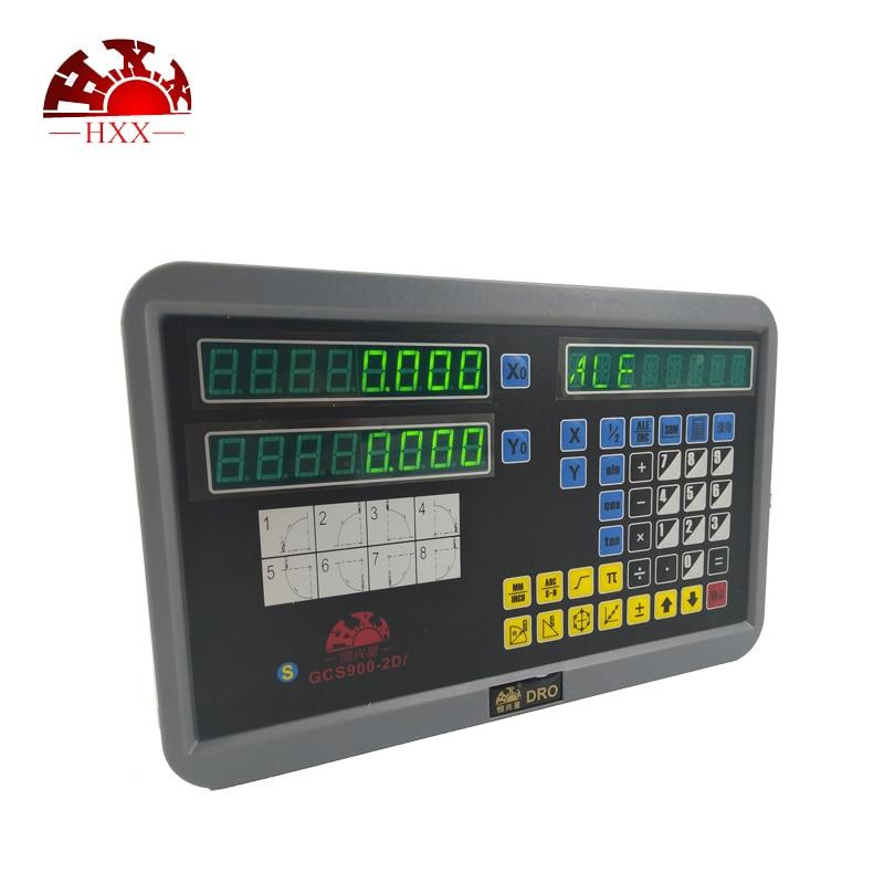 Profissional de ferramentas de medição de HXX gcs900-2d/2 escala dro eixo set e 2 pcs 5u inear para torno
