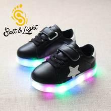 b894ad8808 2018 novas crianças sapatos casuais para meninos das meninas colorido  light-emitting LED flash sapatilhas da forma não-slip sapa.