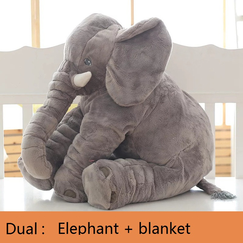 Dual-use elephant plush blanket doll blanket 80x100cm High Density Super Soft Flannel Blanket to on for the sofa/Bed/Car cartoon