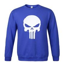 2017 spring winter sweatshirt The Punisher Skull marvel cotton fleece hoody fashion men's sportswear tracksuits  hoodie