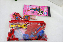 kawaii pencil case for children spiderman sticker school supplies lovely korean pencil case school stationery estojo escolar