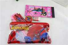 kawaii pencil case for children spiderman sticker school supplies lovely korean pencil case school stationery estojo