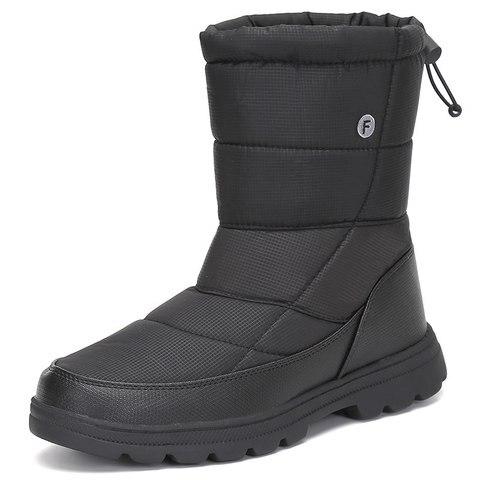 Christmas Men Shoes Winter Snow Boots Men Flat Safety Shoes Warm Military Boots Waterproof Rain Boots Antiskid Zapatos De Hombre Multan
