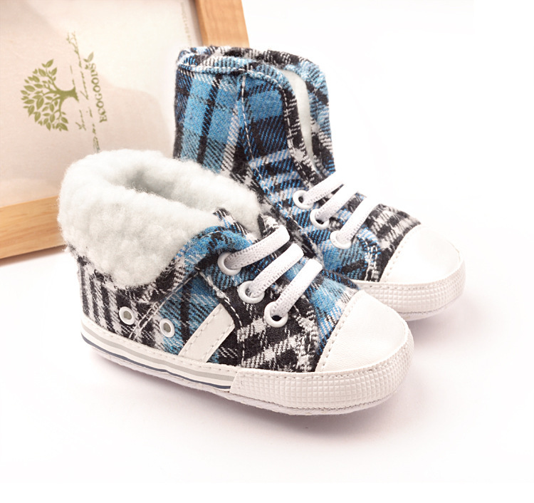 New baby shoes girls boys shoes fashion black and blue ...