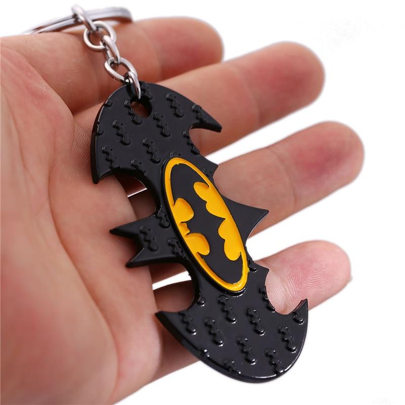 J магазин мультфильм Супермен Бэтмен Брелок фильм супергерой Бэтмен битой логотип сплав брелок для Вентиляторы хороший подарок порте скрип... ...