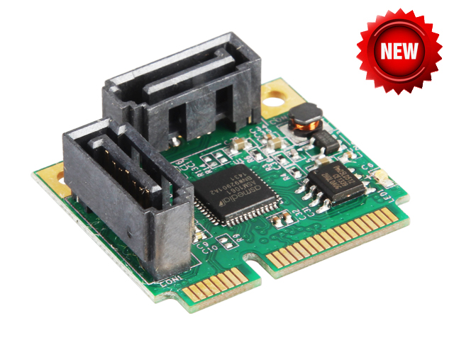 2 Ports SATA 6G mini PCI Express Controller Card mini PCI ...: https://www.aliexpress.com/item/2-Ports-SATA-6G-mini-PCI-Express-Controller-Card-mini-PCI-e-to-SATA-III-3/32490996065.html#!