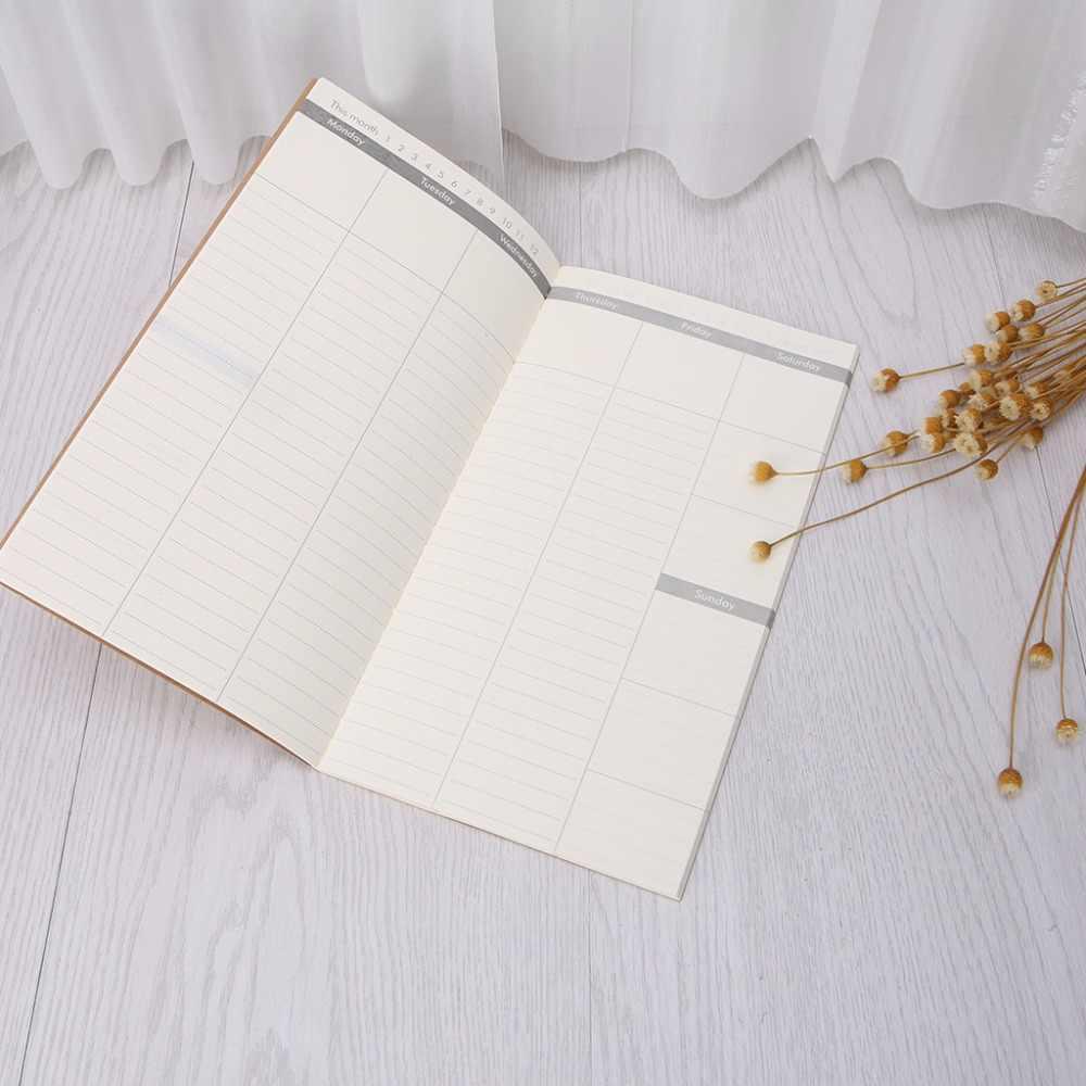 Kraft Cover Weekly Planner Diary Jurnal Memo Notebook Buku Catatan Kantor Sekolah