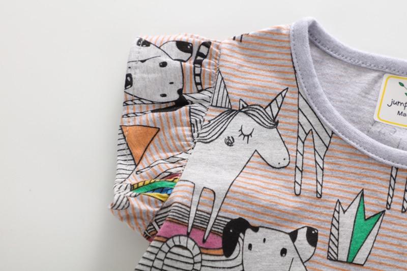 T-shirt z krótkim rękawem dla dziewczynki 2018 T-shirt z długim - Ubrania dziecięce - Zdjęcie 3