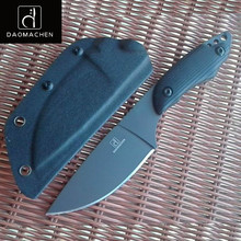 DAOMACHEN Camping Survival Hunting Knife  With Imported K sheath G10 Handle Outdoor Full Tang