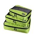 2016 novo Saco de Viagem Respirável 3 pçs/set Cubos de Embalagem Bagagem Organizadores Embalagem com Saco de Sapato de Viagem Acessórios