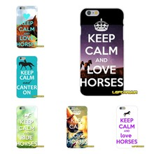 Keep Calm and Love Horse Soft Silicone phone Case For Huawei G7 P8 P9 p10 Lite 2017 Honor 5X 5C 6X Mate 7 8 9 Y3 Y5 Y6 II(China)