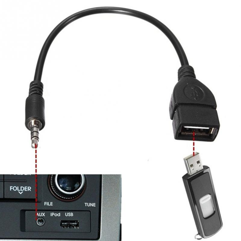 Audio Convert Wire Car AUX Cable A Female OTG Converter Adapter Cable 3.5mm Male Audio AUX Jack To USB 2.0 Type