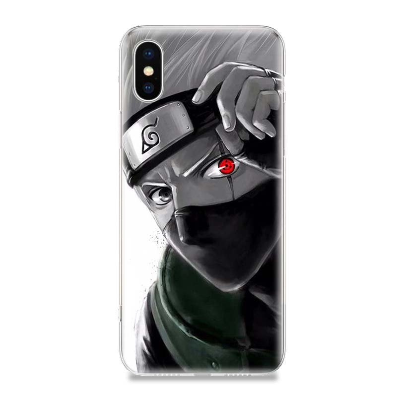 NARUTO Anime Ninja Fashion Phone Case For iPhone 7 8 6 6S Plus X 10 Ten XS MAX XR 5 5S SE Customized Art TPU Cover Coque Capa in Half wrapped Cases from Cellphones Telecommunications