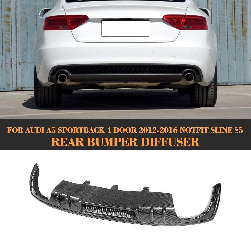 D Стиль углеродного волокна заднего бампера расширение диффузор спойлер для Audi A5 Стандартный 12 16 купе Sportback Кабриолет не S линии S5